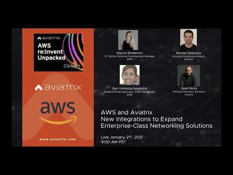 Expand Your Enterprise-Class Networking Solutions on AWS