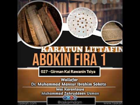 Littafin Abokin fira wallafar Dr Mansur Sokoto ayi saurare lafiya