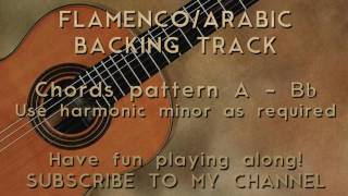 Backing Track Flamenco/Arabic Harmonic Minor A/Bb
