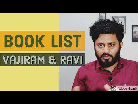Book list, Vajiram and ravi    2019