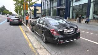 A man Destroys Mercedes Benz - S63 AMG in South Ko