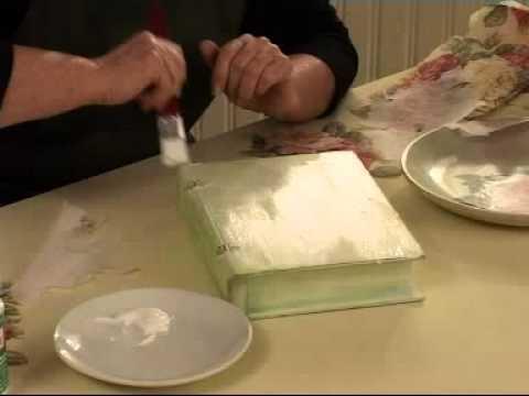 Pecete Dekupaj Teknigi Ahsap Boyama Efektleri Youtube