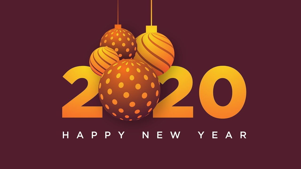 2020 Happy New Year, Stock Vector, Speed-Art | Illustrator Tutorials