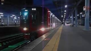 鹿児島本線荒尾行き普通列車(813系)・千早駅を発車