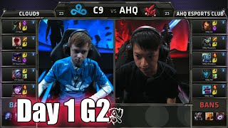 Cloud 9 vs ahq e-Sports Club | Day 1 Game 2 Group B LoL S5 World Championship 2015 | C9 vs AHQ D1G2