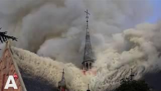 Enorme rookontwikkeling bij grote kerkbrand Amstelveen