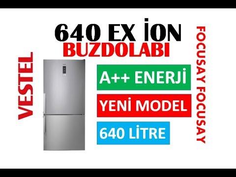 VESTEL NFKY 640 A++ İON BUZDOLABI''YENİ''2017