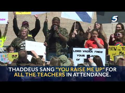 Video: American Idol contestant Thaddeus Johnson gives emotional performance at teacher walkout