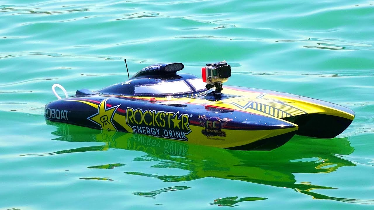Rc Adventures Racing Dual Rockstar 48 Gas Powered Catamaran Speed