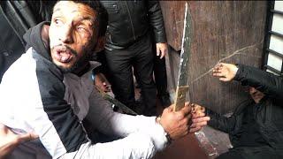 """بالفيديو: هكذا تم قتل وحرق """"متشرد """" من طرف خمسة متشردين بسبب"""