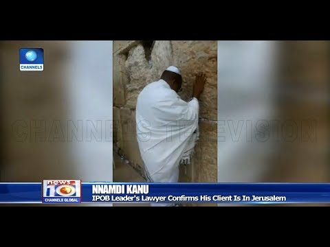 IPOB Leader, Nnamdi Kanu Sighted In Jerusalem Pt.1 20/10/18 |News@10|