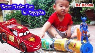 Train for Kids video - Chế  và Thử nghiệm tốc độ của Tàu Hỏa với ô tô