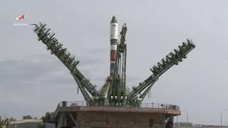 """Вывоз РКН """"Союз-2.1а"""" с ТГК """"Прогресс МС-12"""""""