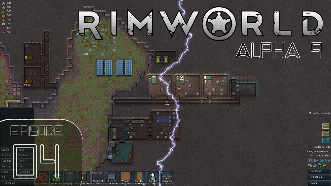 Rimworld Alpha 9 - Episode 4 - New People Pulling Weight