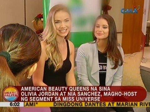 American beauty queens na sina Olivia Jordan at Nia Sanchez, magho-host ng segment sa Miss Universe