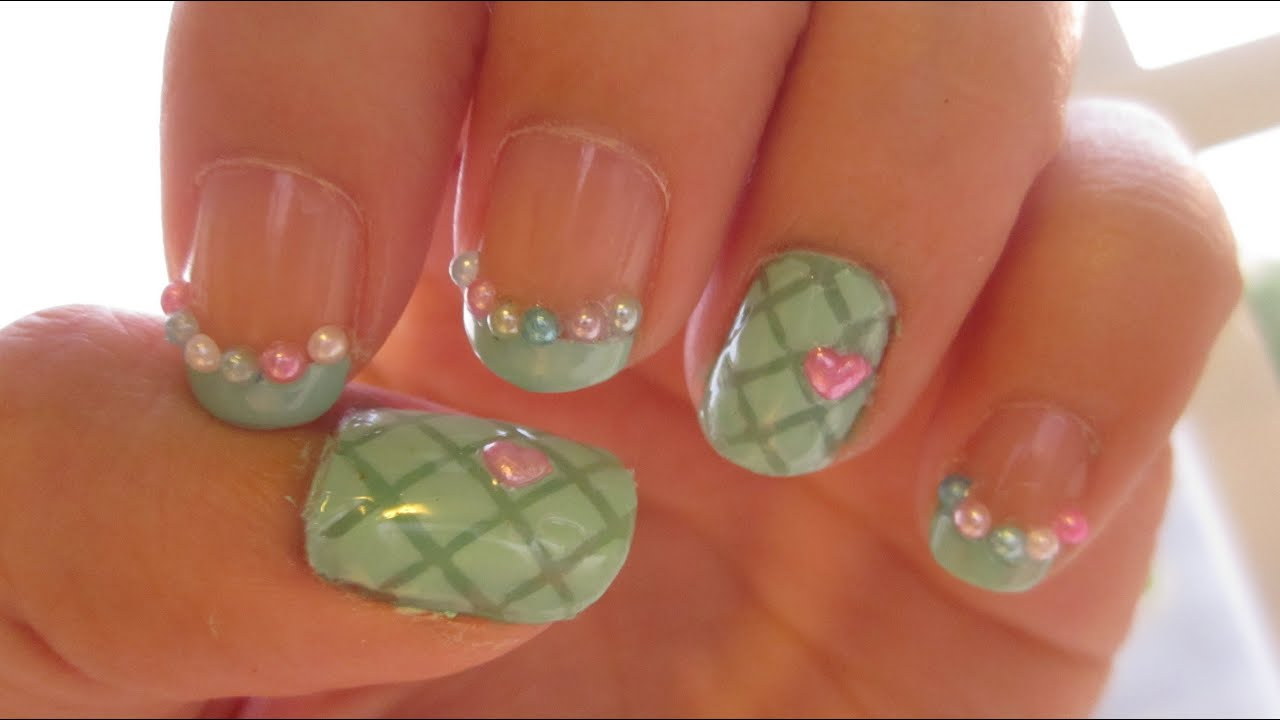 Kawaii quilted nails spring inspired youtube prinsesfo Choice Image