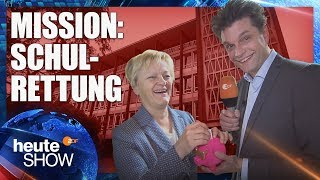 Lutz van der Horst sammelt Geld für marode Schulen