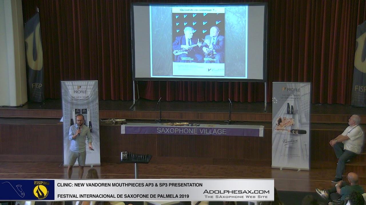 FISPalmela 2019 - VANDOREN AP3 & SP3 Mouthpiece presentation