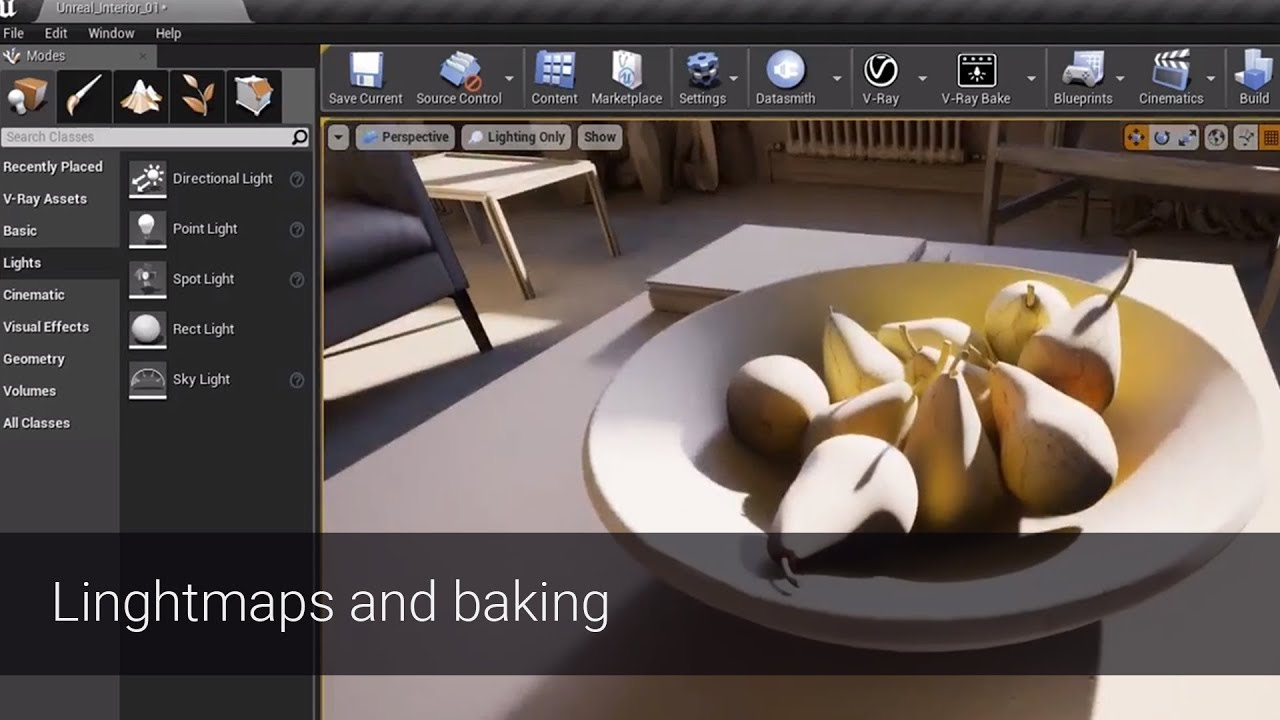 V-Ray for Unreal – How to work with Lightmaps and Light baking