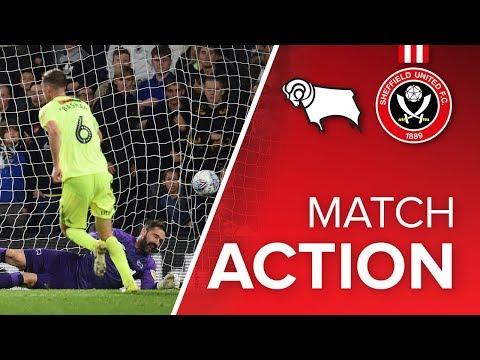 Derby 2-1 Blades - match action
