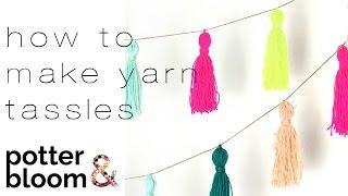 How to Make a Colourful Yarn Tassel Garland