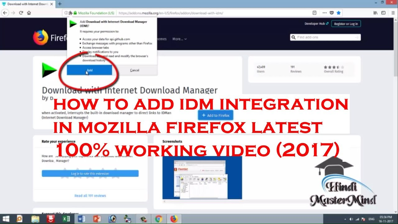 Internet download manager mozilla plugin