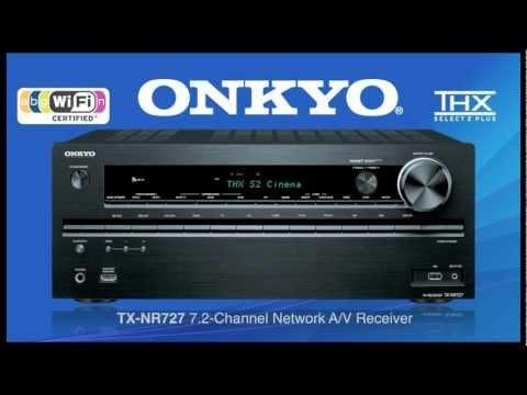 ONKYO TX-NR727 Built-In Wireless & Bluetooth THX Audio Streaming. Wow!