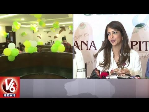 Manchu Lakshmi Enters In Food Business, Launches 'Junior Kuppanna' Restaurant In Hyd | V6 News