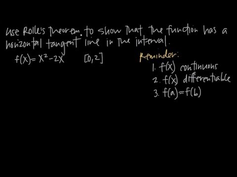 How to use ROLLE'S THEOREM (KristaKingMath)