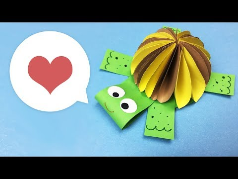 Paper DIY for kids | Cute turtle craft | Easy to make for everyone