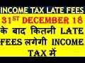 HOW MUCH LATE FEES WIL BE CHARGED FOR INCOME TAX RETURN AFTER 31.12.2018