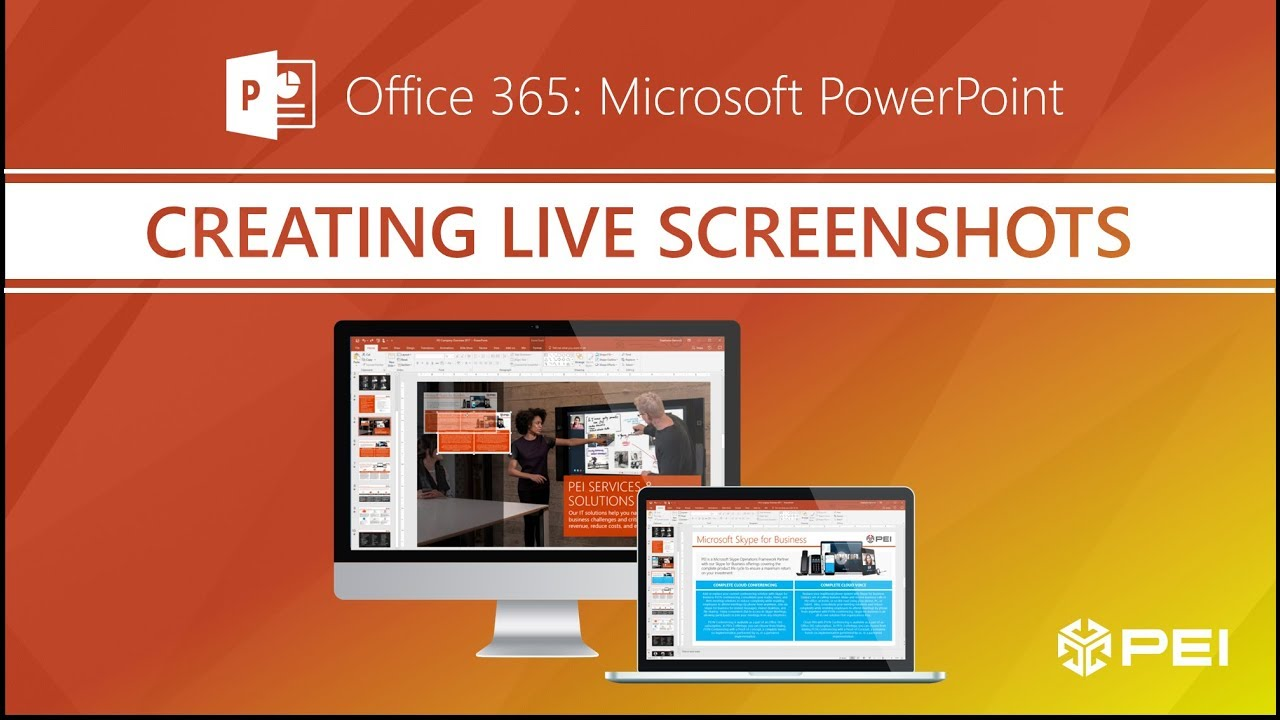 Office 365 - Creating Live Screenshots in PowerPoint - PEI