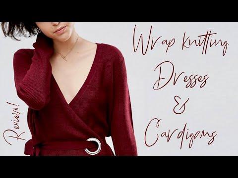 Кардиганы и платья с ЗАПАХОМ: спицами и крючком. ОБСУДИМ? / Wrap Knitting Dresses & Cardigans