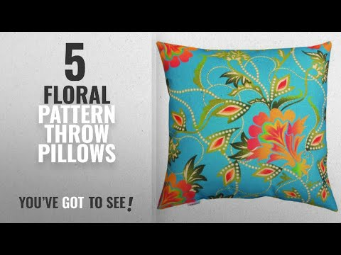 Top 10 Floral Pattern Throw Pillows [2018]: Manual Climaweave Indoor/Outdoor Throw Pillow, Bright