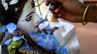 lord Shiva drinking milk in Guyana