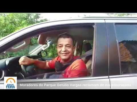 Moradores do Parque Getúlio Vargas reclamam de ruas esburacadas