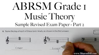 ABRSM Music Theory Grade 1 Sample Revised Exam Paper Part 2 with Sharon Bill