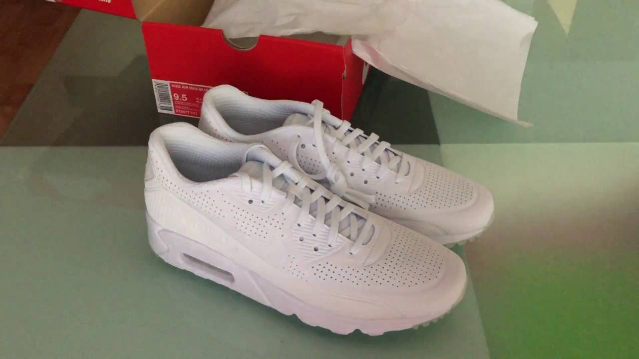 50% price discount high fashion Nike Air Max 90 Ultra Moire White Unboxing and Review - YouTube