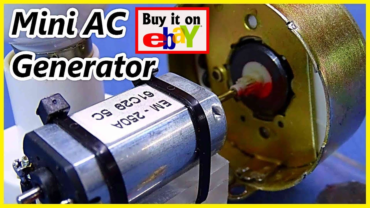 Dc Motor To Ac Generator Youtube