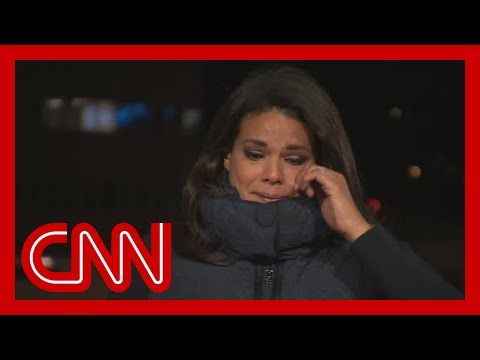 Sara Sidner chokes up after reporting from hospital