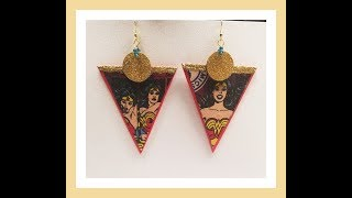 Gambar cover Statement Earrings - using FOAM, WOOD, FABRIC