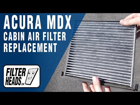 How to Replace Cabin Air Filter 2007 Acura MDX