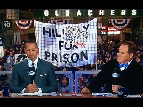 "Thumbnail: Huge ""Hillary For Prison"" Sign at World Series"