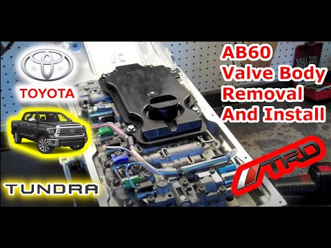 Фото к видео: AB60 Toyota Tundra Valve Body Removal and Installation