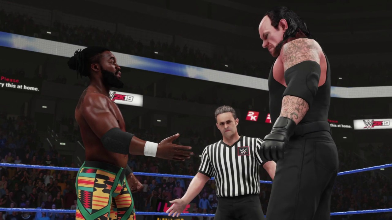 WWE 2k19 The Undertaker vs. Kofi Kingston - YouTube