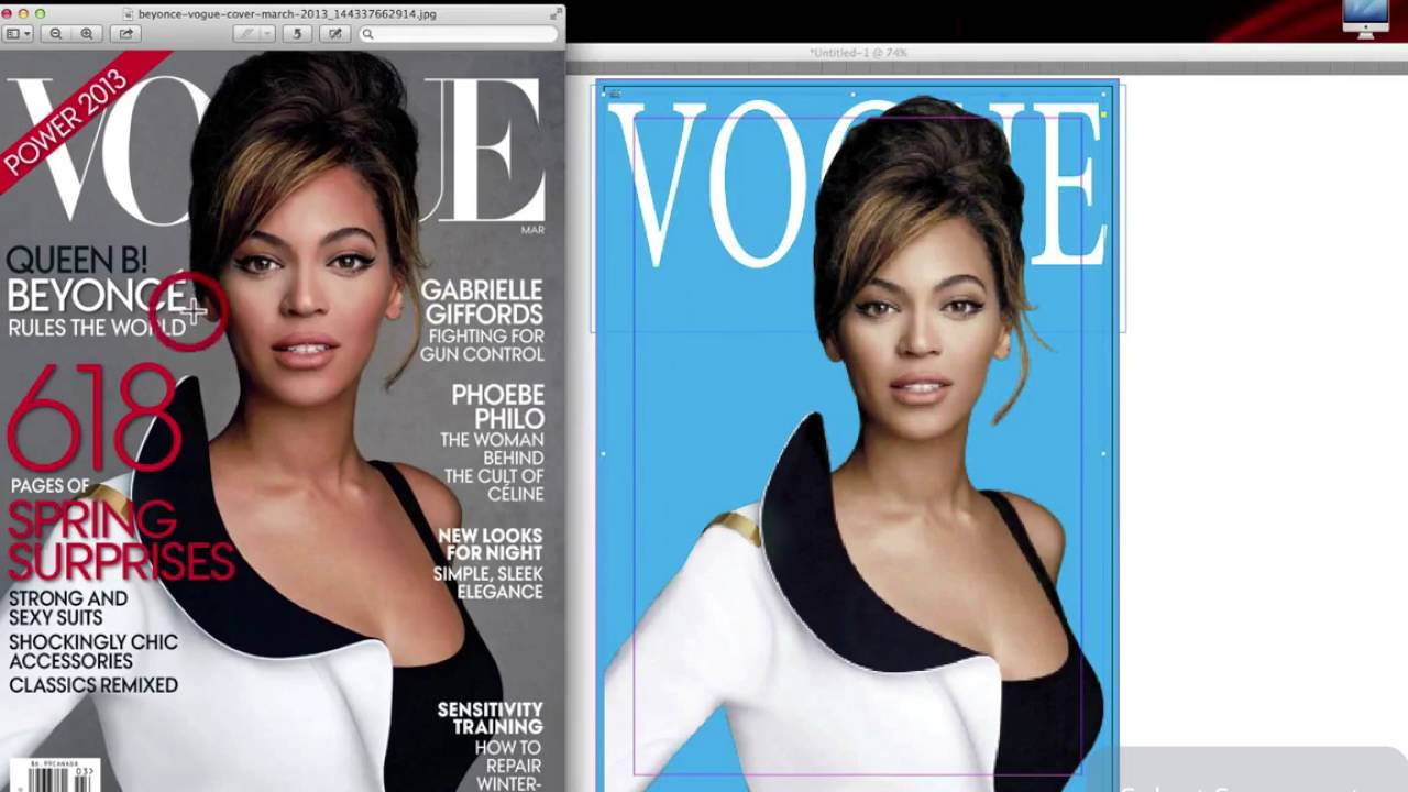 Adobe InDesign CC - Creating a Vogue magazine Cover - YouTube