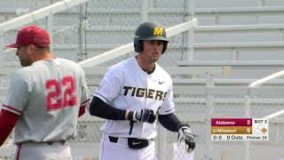 HIGHLIGHTS: Mizzou Baseball Drops Alabama Series Opener