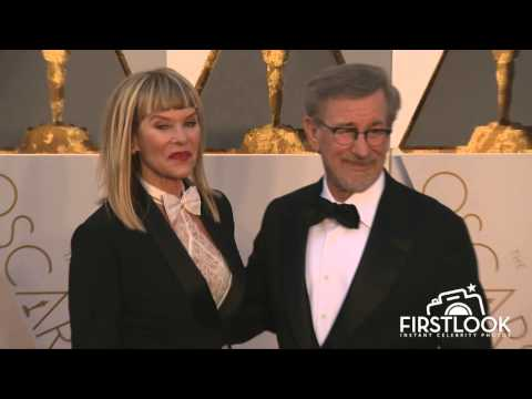 Kate Capshaw and Steven Spielberg arrive at the 2016 Oscars in Hollywood