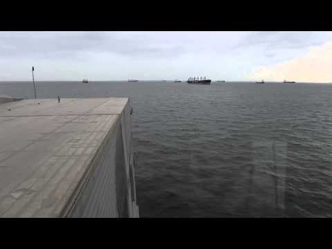 Time Lapse of the USNS Spearhead Pulling into Douala, Cameroon