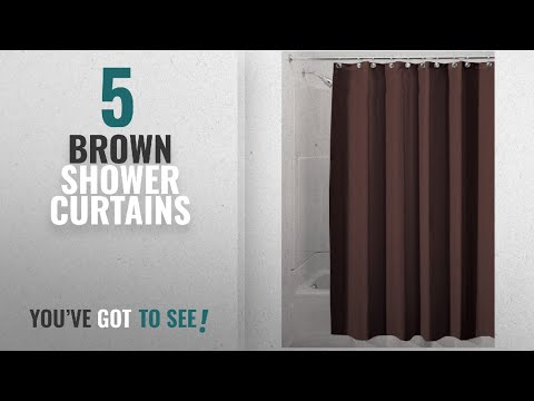 Top 10 Brown Shower Curtains [2018]: InterDesign Water-Repellent And Mildew-Resistant Fabric Shower